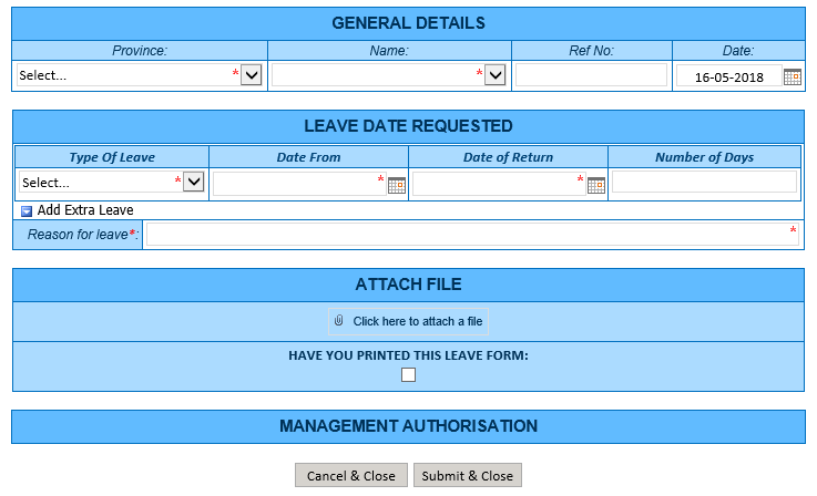 example of microsoft infopath form for sharepoint leave application