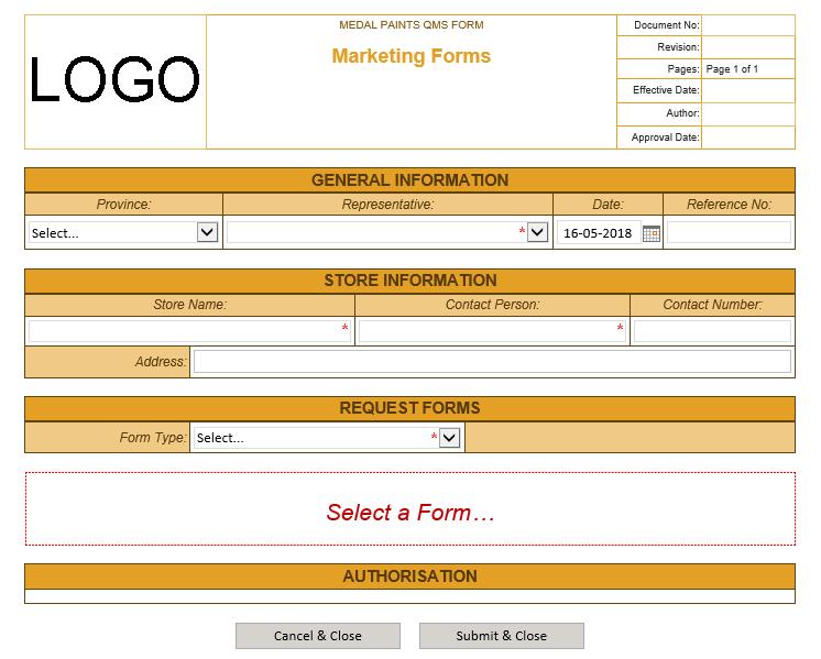 Microsoft InfoPath Form2