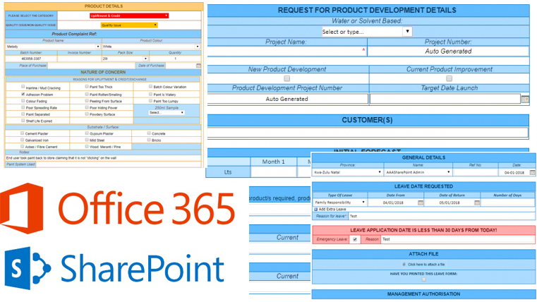 create forms in sharepoint
