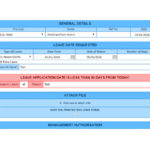 custom leave application form for sharepoint